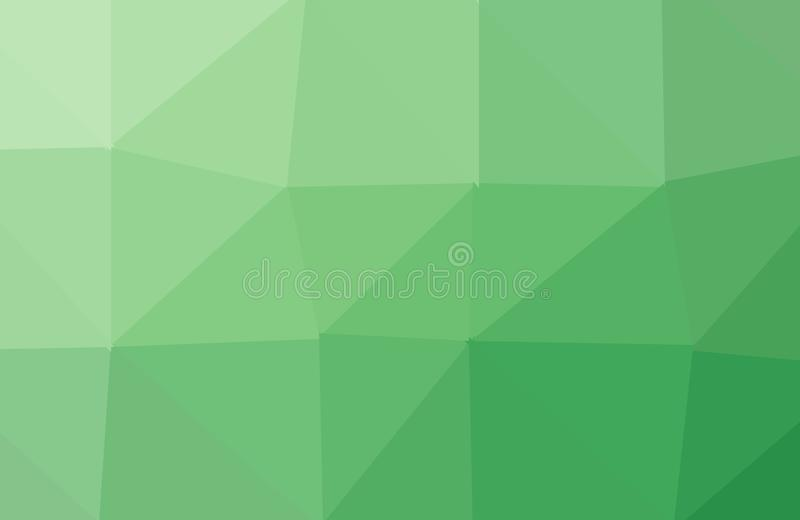 Abstrato ilumine - o fundo poligonal verde do mosaico, fundo moderno, baixo estilo poli, ilustração do vetor, projeto de negócio ilustração stock