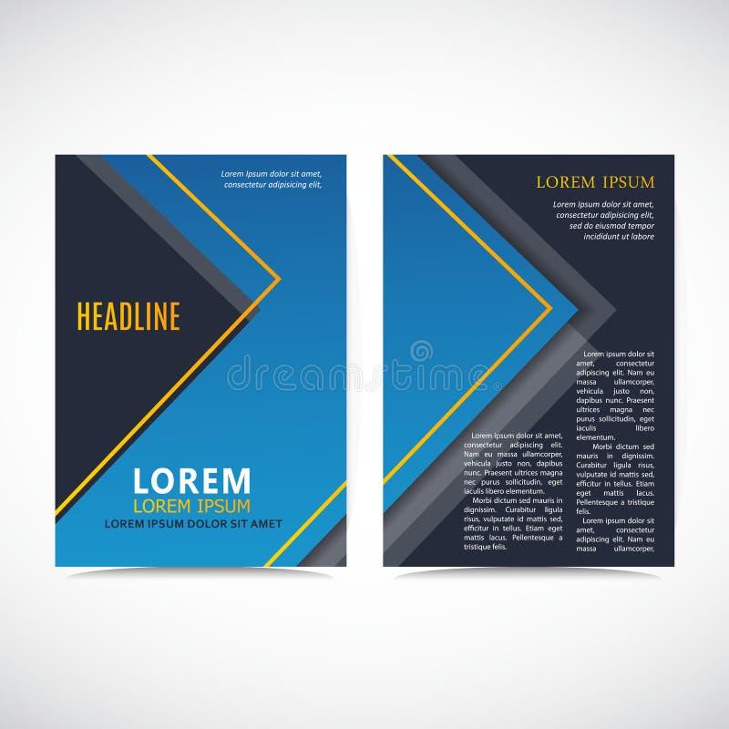 AbstrBlue Bedrijfsbrochureontwerp Vliegermalplaatje Pamfletdekking voor presentatie stock illustratie