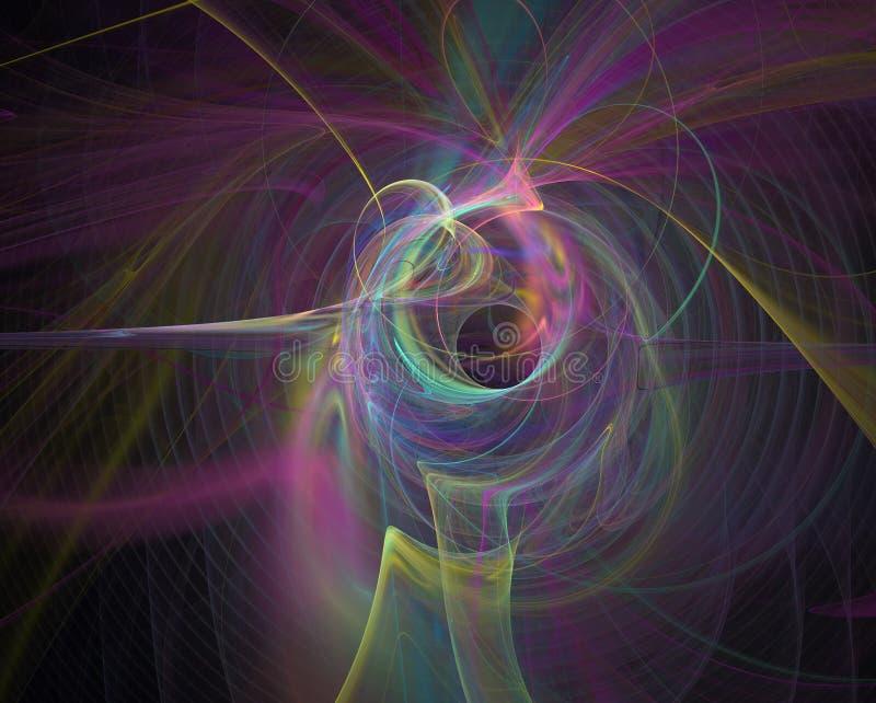 Abstrct Digital Artwork. A fantastic nebula with a black hole. stock illustration