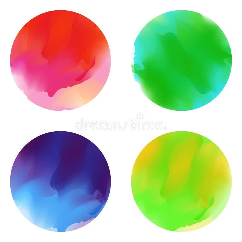 Abstrichbürstenfarbe stock abbildung
