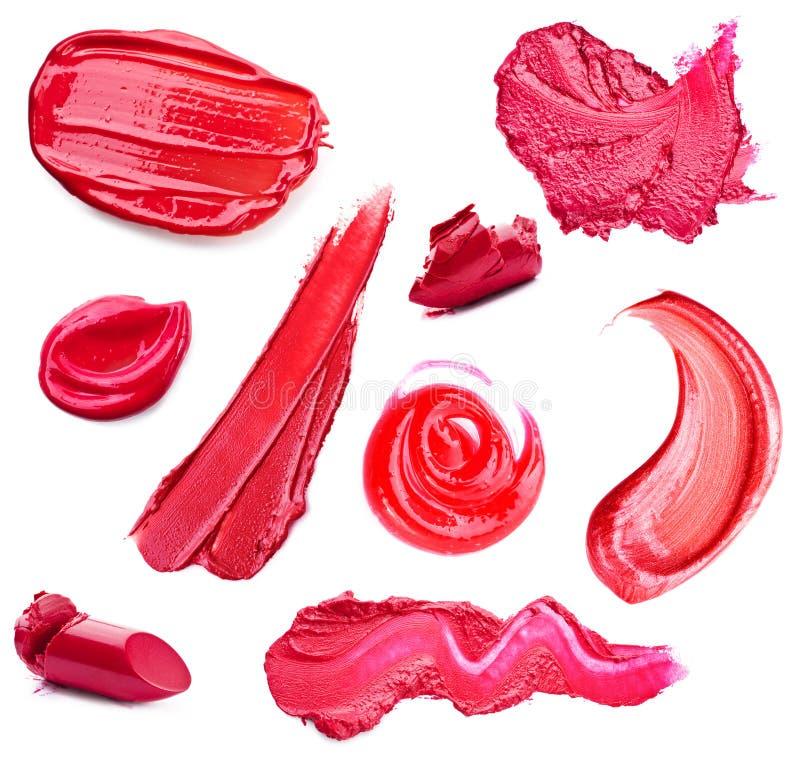 Abstriche Lippenstift und Lipglossvielzahl von Formen