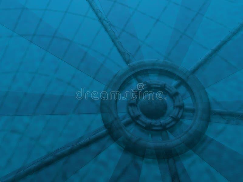 Abstruct azul profundo ilustración del vector