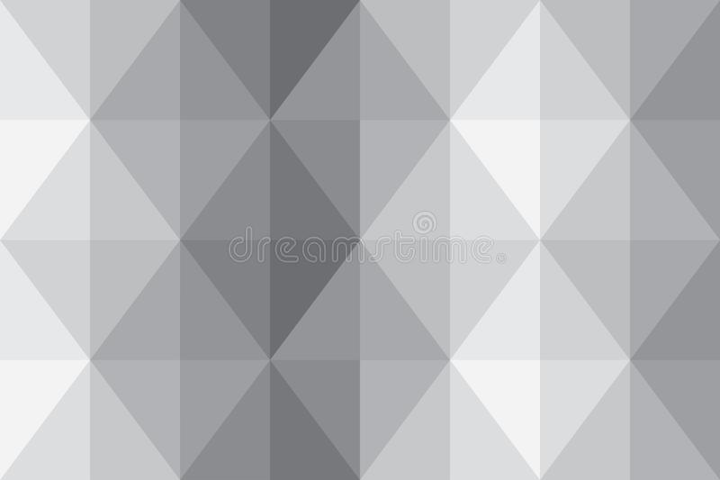 Abstufungszusammenfassungsfahnenlicht-Tapetenmuster des Dreieckhintergrundpixels graues lizenzfreie stockbilder