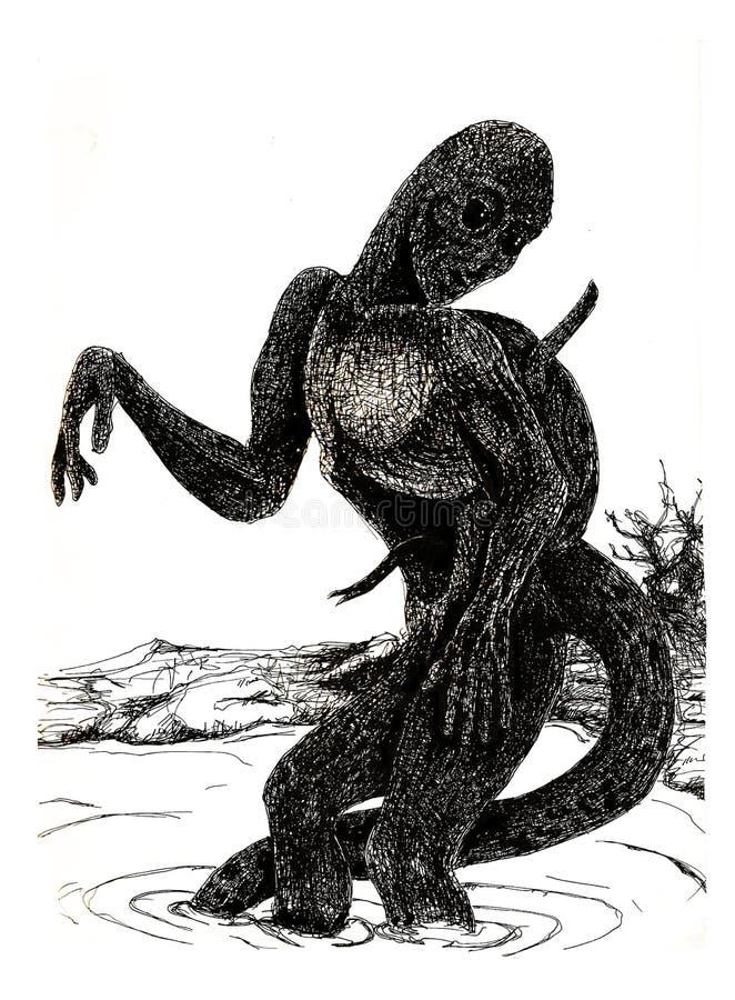 Absurdalna istota ilustracja wektor