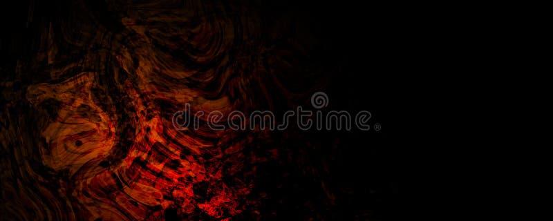 Absurder Pinsel-Flammen-Hintergrund lizenzfreie abbildung