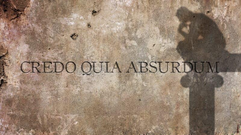 Absurdum quia кредо латинская фраза стоковые фото