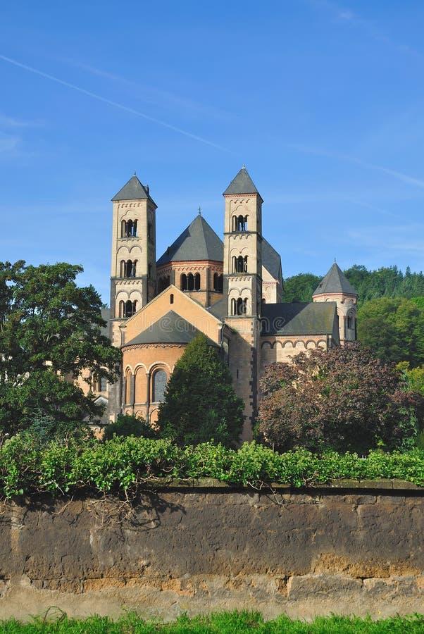 Abtei Maria-Laach, Eifel, Deutschland stockfotografie