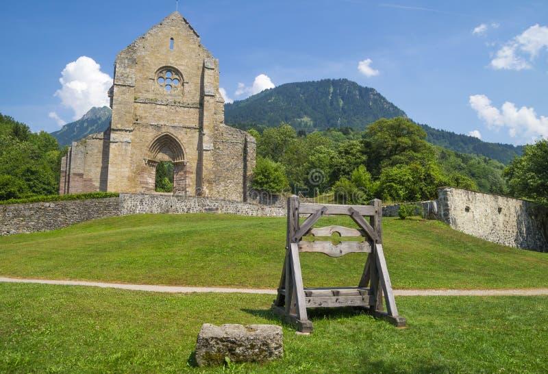Abtei von Heilig-Jean-d'Aulps, Frankreich lizenzfreie stockfotografie