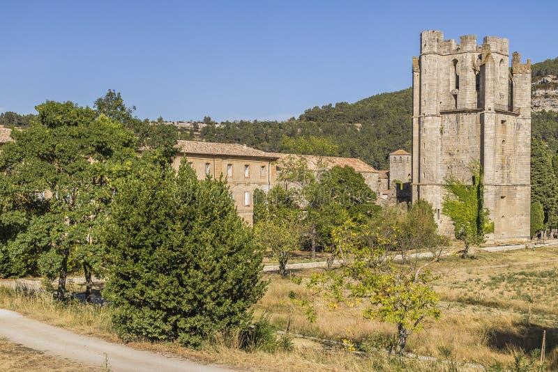 Abtei von Lagrasse stockfotografie