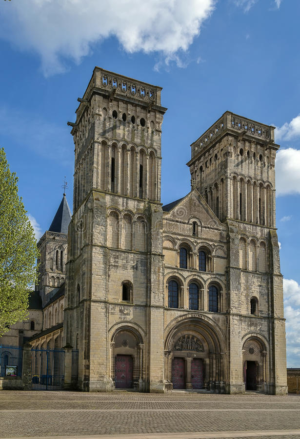 Abtei von Sainte-Trinite, Caen, Frankreich stockfotos