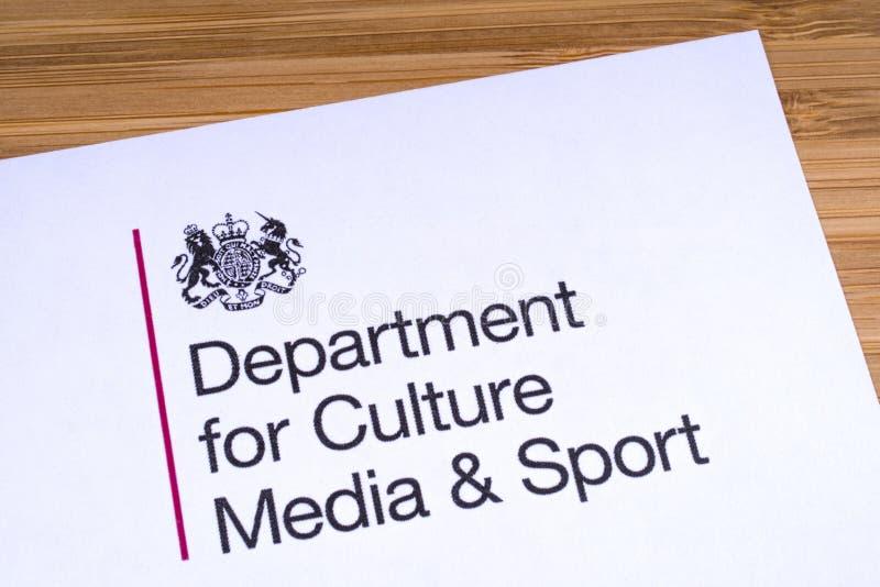 Abteilung f?r Kultur, Medien und Sport lizenzfreies stockfoto
