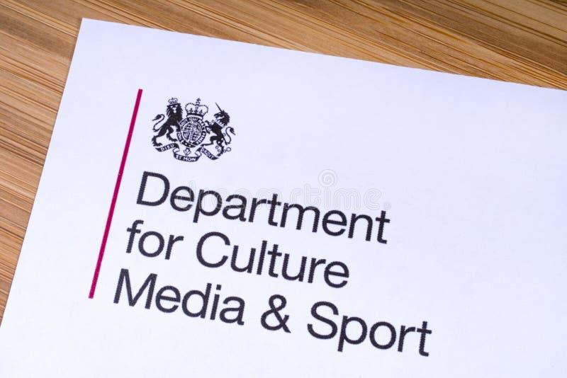 Abteilung f?r Kultur, Medien und Sport lizenzfreies stockbild