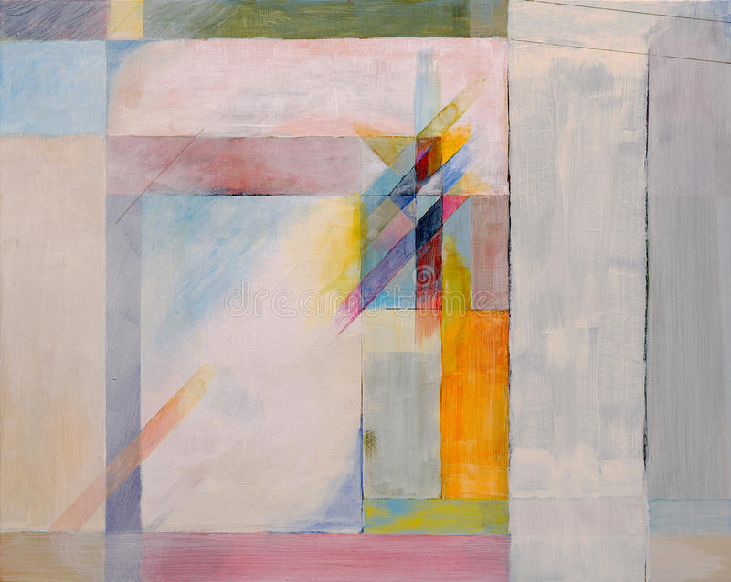 An abtract painting - doorway. An abstract painting suggesting a doorway