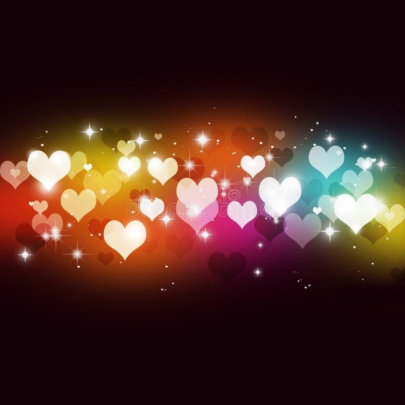 Abtsract Valentine Multicolor Background vektor illustrationer