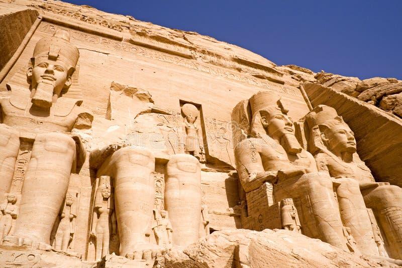 abu极大的simbel寺庙 免版税图库摄影