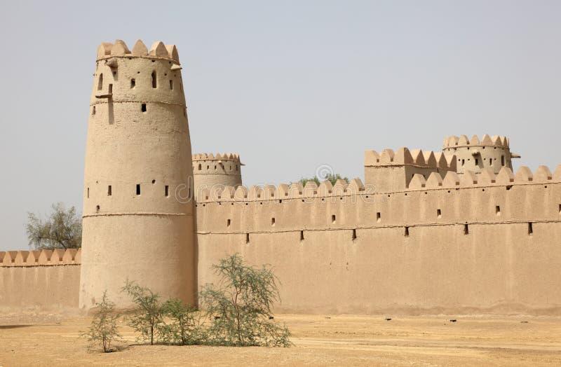 abu自己的Al古老dhabi堡垒 库存照片