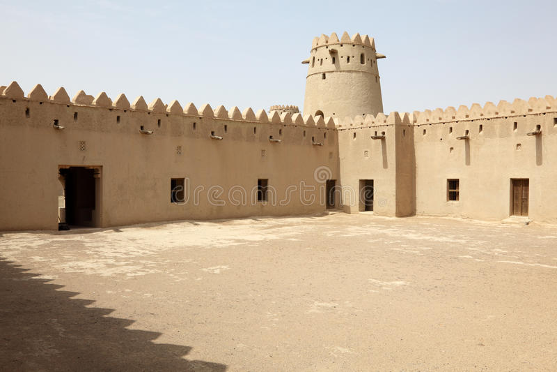 abu自己的Al古老dhabi堡垒 免版税库存照片