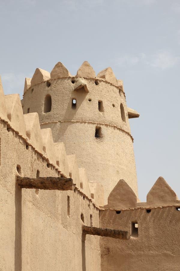 abu自己的Al dhabi堡垒jahili 免版税库存图片
