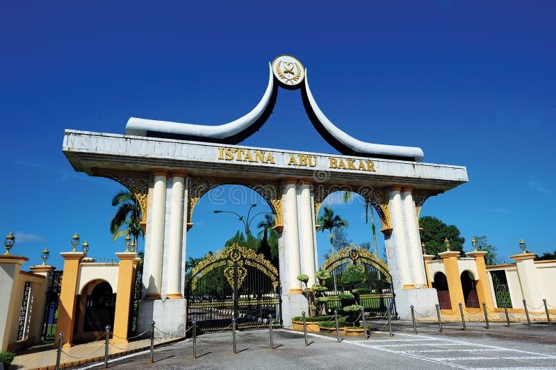 Abu Bakar Palace, Pekan stock foto