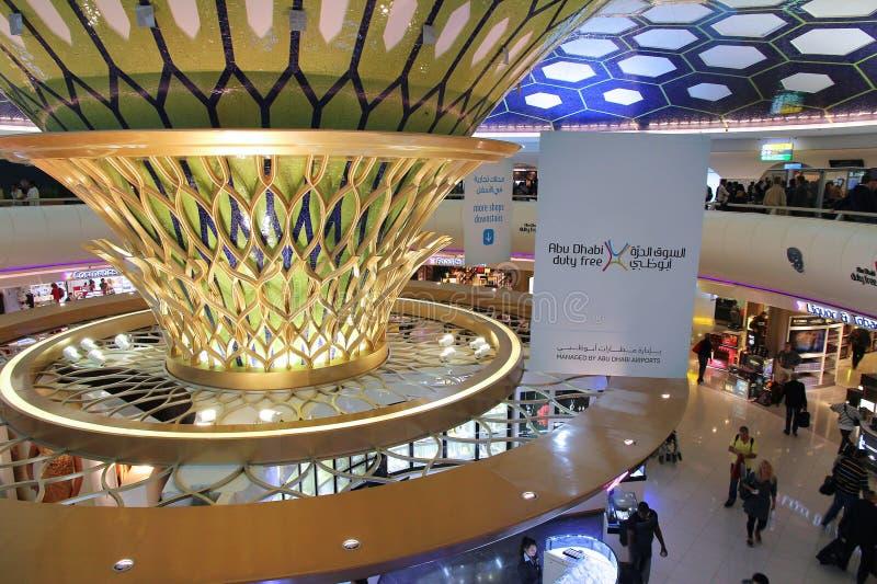 Abu Dhabi Airport imagen de archivo libre de regalías