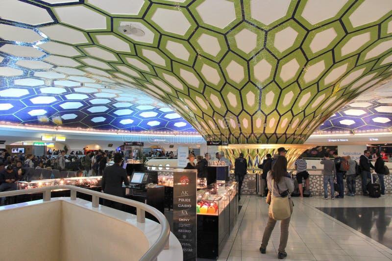Abu Dhabi airport royalty free stock photo