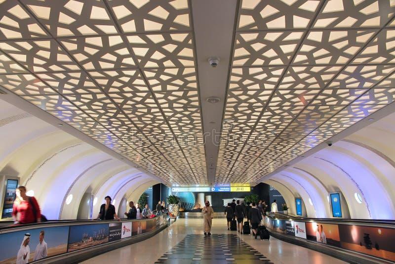 Abu Dhabi airport stock image