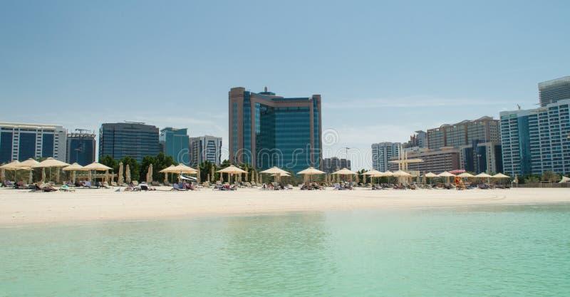 Abu Dhabi Beach royalty free stock image