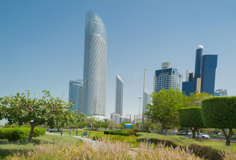 Abu Dhabi city royalty free stock photography