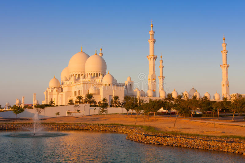 Abu Dhabi city, UAE. Sheikh Zayed Mosque in Abu Dhabi city, UAE royalty free stock photos