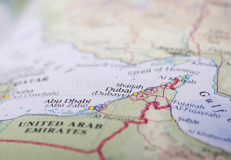 abu dhabi Dubai mapa zdjęcia royalty free