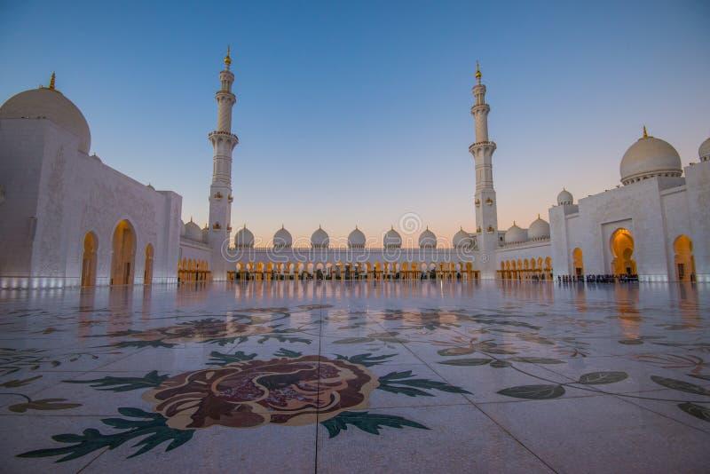Abu Dhabi, EAU, le 4 janvier 2018, Sheikh Zayed Grand Mosque dans Abu Dhabi image stock