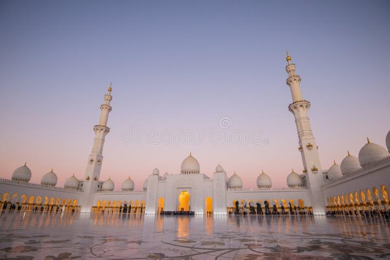 Abu Dhabi, EAU, le 4 janvier 2018, Sheikh Zayed Grand Mosque dans Abu Dhabi photos stock