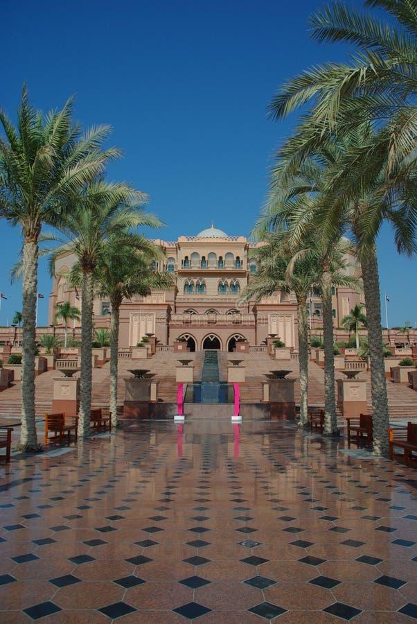 Abu Dhabi emiratesslott royaltyfri foto