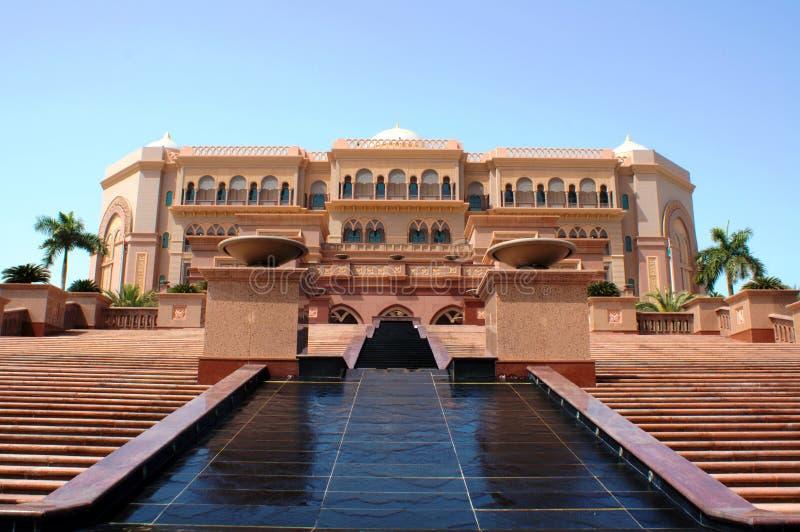 Abu Dhabi emiratesslott arkivfoton