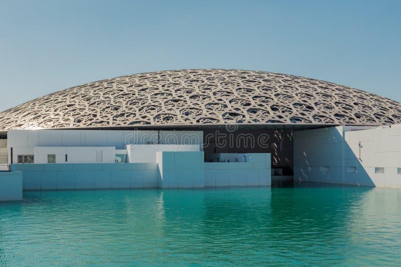 Abu Dhabi, Emirati Arabi Uniti, il 14 novembre 2017: Louvre Abu Dhabi immagini stock libere da diritti