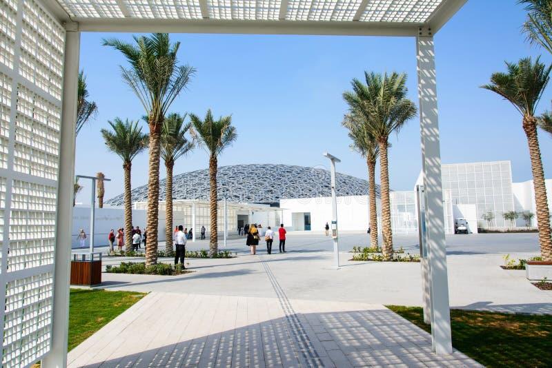 ABU DHABI, EMIRATOS ÁRABES UNIDOS - 26 DE JANEIRO DE 2018: Louvre Abu D fotografia de stock royalty free
