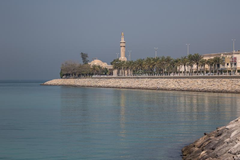 Abu Dhabi : entre le désert et l'océan photo stock