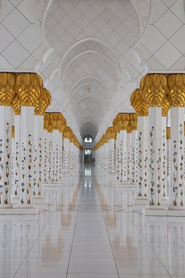 abu dhabi gran meczet zdjęcie royalty free