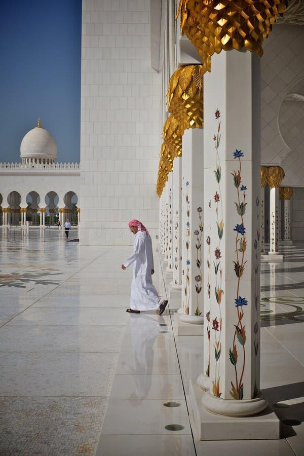 abu dhabi gran meczet obraz stock