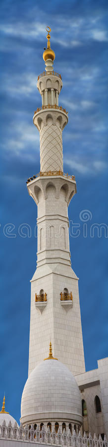 Abu Dhabi Grand Mosque Minaret royalty free stock photography