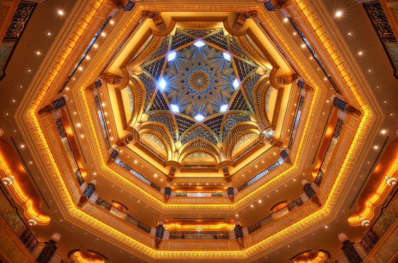 Abu Dhabi Hotel Lobby fotografia de stock royalty free