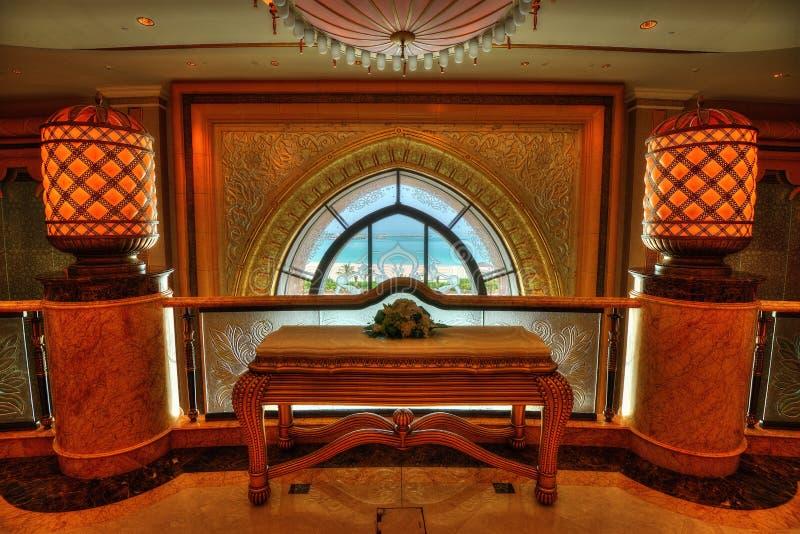 Abu Dhabi Hotel Lobby foto de stock
