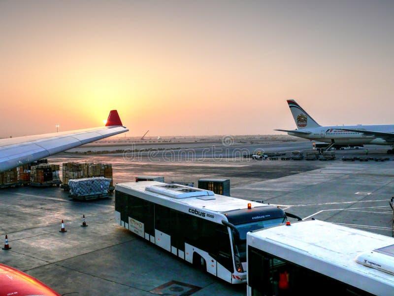 Abu Dhabi International Airport stock photo