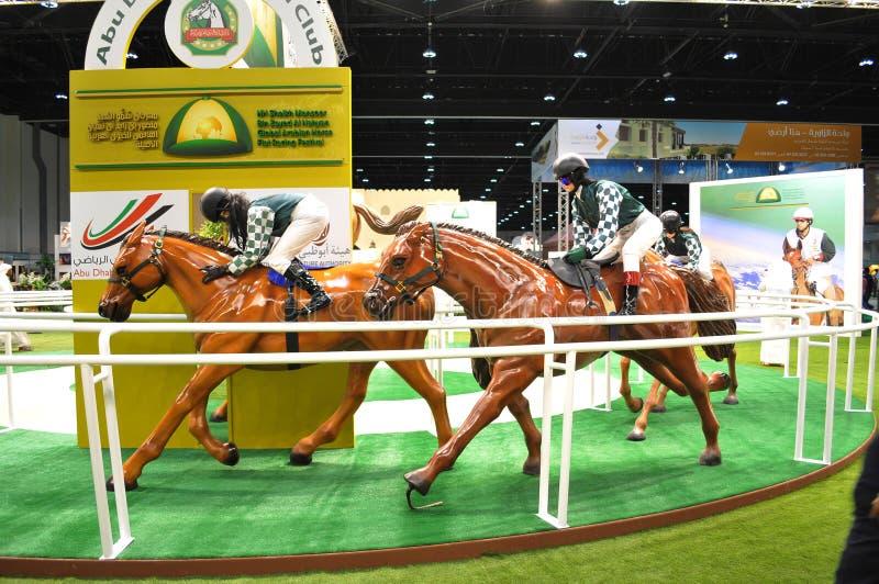 Abu Dhabi International Hunting and Equestrian Exhibition (ADIHEX) - Abu Dhabi Equestrian Club. Abu Dhabi International Hunting and Equestrian Exhibition (ADIHEX stock image