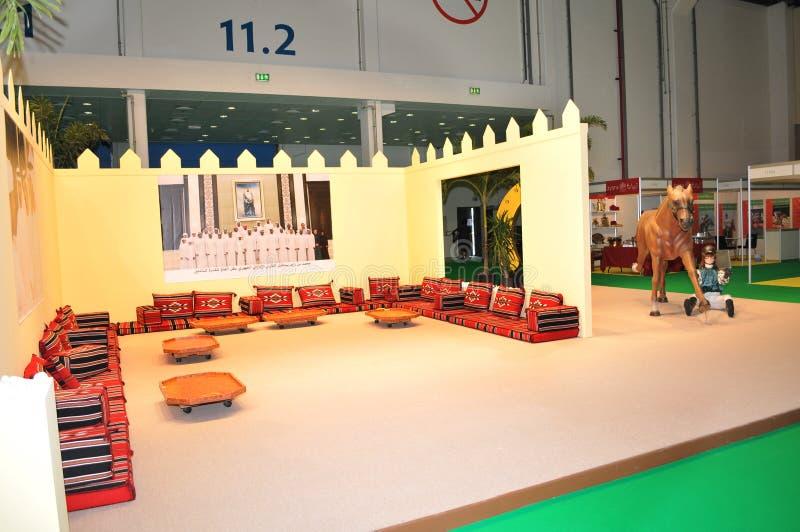Abu Dhabi International Hunting and Equestrian Exhibition (ADIHEX). 2013 in Adbu Dhabi National Exhibition Centre (ADNEC stock photo