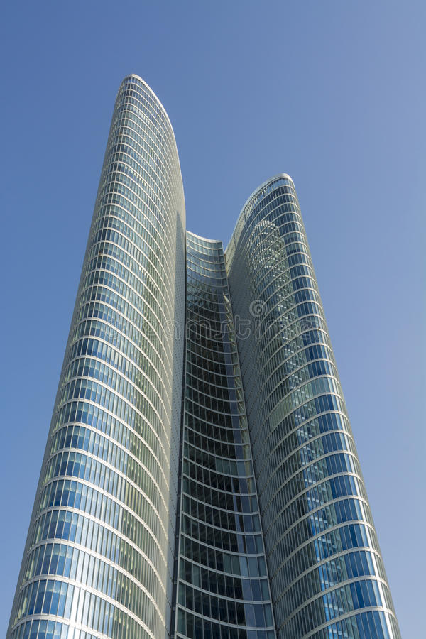Abu Dhabi Investment Authority Tower imagens de stock