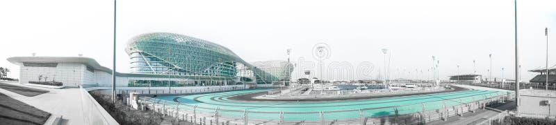 Abu Dhabi - 5 55-kilometre Yas Marina obwód F1 zdjęcie royalty free