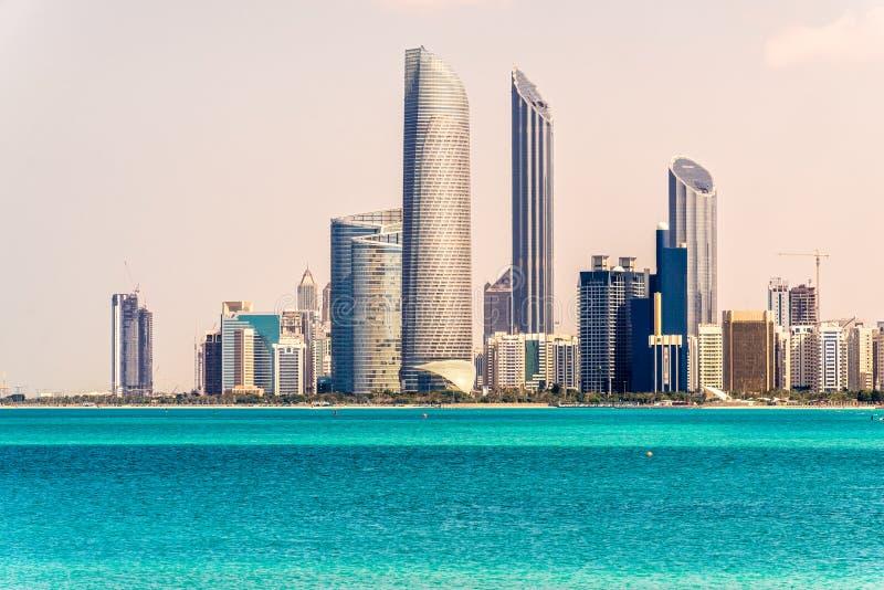 Abu Dhabi linia horyzontu, UAE obraz royalty free