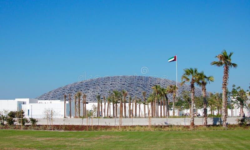 Abu Dhabi Louvre durante o dia imagem de stock royalty free