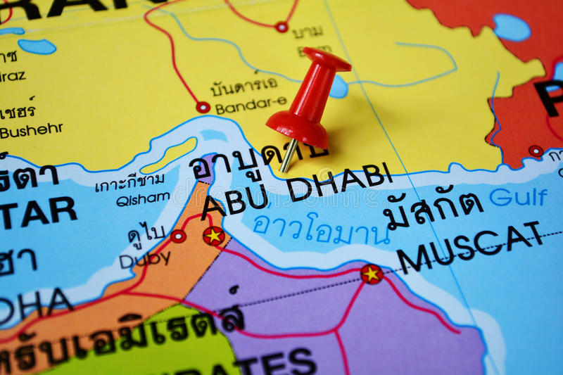 Abu dhabi map stock photo Image of united city dhabi 46076396